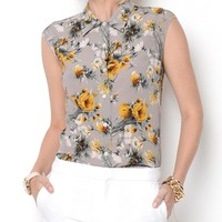 Dolce & Gabbana Floral Printed Blouse - Made In Italy - Designer Vault Day for Her by Chloe, Balenciaga, YSL and more - Modnique.com