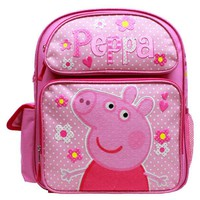 "Entertainment One Peppa Pig 14"" Canvas Pink School Backpack"