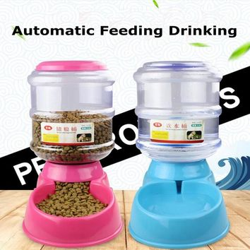 New 3.5 Liter Automatic Pet Feeder Drinking Fountain