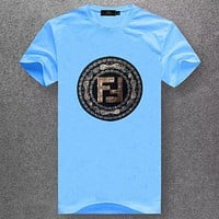 Boys & Men Fendi Fashion Casual Short Sleeve Shirt Top Tee