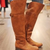 Knee High Riding Boot- Tan