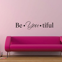 Be You tiful vinyl wall decal by GrabersGraphics on Etsy