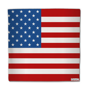 "USA Flag AOP Micro Fleece 14""x14"" Pillow Sham All Over Print"