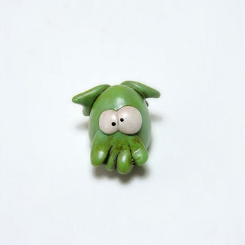 MINIATURE Cthulhu - monster by H P Lovecraft- small figurine - cold clay handmade and handpainted