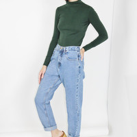 mom jeans 90s rugged blue denim high waisted high rise pants mom jeans small medium sm s med m 27 inch waist