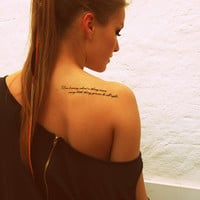 Fake Tattoos - Scandinavian temporary tattoos - Don't worry about a thing...
