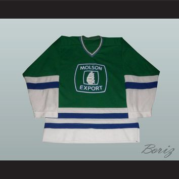 Molson Export Beer 8 Green Hockey Jersey