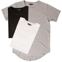 The Curved Hem Tall Tee 3 Pack