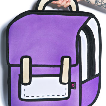 Dream Bags Explorer Cartoon Backpack Purple One