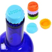 6pcs/lot Silicone Wine Beer Bottle Caps 3.1cm Stoppers Leak Free Sealers Cover for bottle Kitchen Gadget Tools