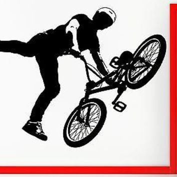 Wall Stickers Vinyl Decal BMX Bike Biker Bicycle Extreme Sport Decor Unique Gift (z2312)