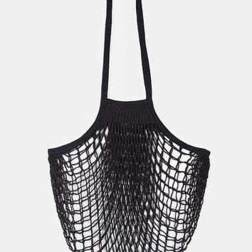 Collected by The Line — Filt Large Net Bag Black — THE LINE