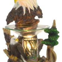 Bald Eagle Table Fragrance Aroma Lamp Oil Diffuser Wax Tart Candle Warmer Burner Home Decor