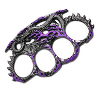 Purple Dragon Zinc Aluminum Knuckle Buckle & Paperweight