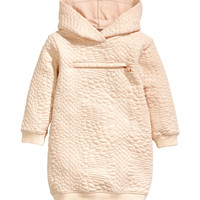 H&M - Textured Hooded Top - Pink glitter - Kids