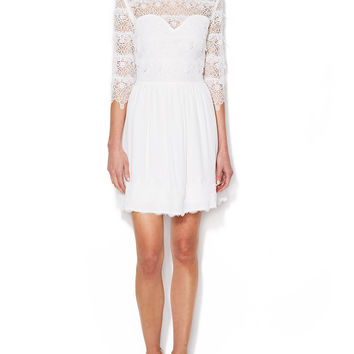Dosa Lace Sweetheart Dress