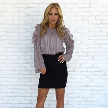 So Divine Blouse in Grey