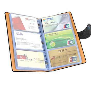 LOYMR PU Leather Business Name Card Book ID Card Credit Cards Organizer 300 Cards