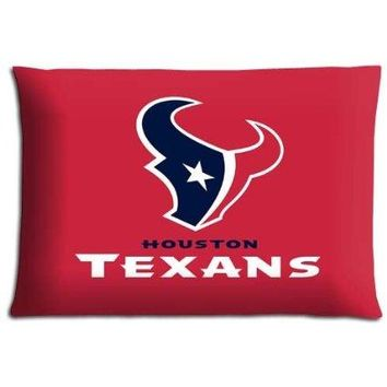 20X30 Inch home pillow cases Soft Flannel fade-resistant anti-microbial Houston Texans For Sports Fan