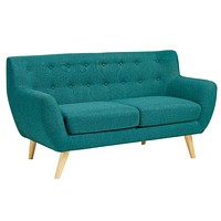 Remark Upholstered Loveseat, Teal -Modway