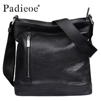 Genuine Leather Men Bag Luxury Men's Leather Messenger Bag Casual Male Shoulder Crossbody Bags Sling Handbag Bags
