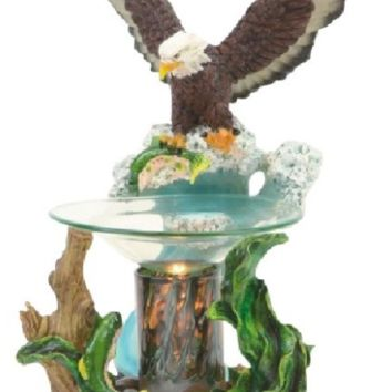 Flying Bald Eagle Table Fragrance Aroma Lamp Oil Diffuser Wax Tart Candle Warmer Burner Home Decor