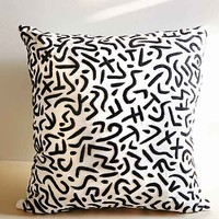 Allover Wildstyle Pillow- Black & White One