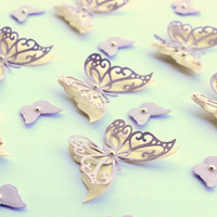 Cream and Lovely Lavender Butterflies, Butterfly Wall Art, 3d Butterflies, Paper butterflies, Butterfly wall decor, Home decor, Spring decor