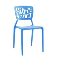 Vocci Blue Modern Stackable Side Chair (Set of 4)