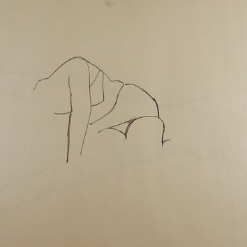 Line Drawing Womans Figure Study