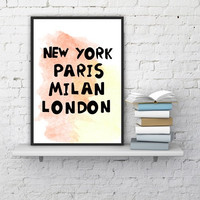 """PINTABLE ART - One Poster """"Love Cities"""""""