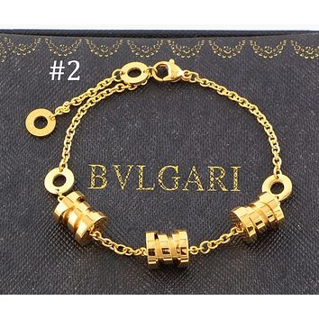 BVLGARI three-ring three-color spring bracelet color matching couple bracelet F-HLYS-SP #2