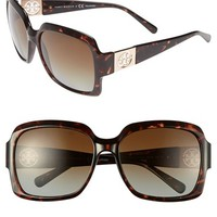Women's Tory Burch 59mm Polarized Sunglasses - Tortoise/ Brown