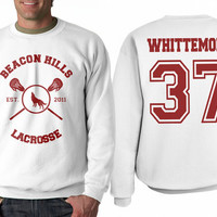Whittemore 37 Beacon Hills Lacrosse Teen Wolf Crewneck Sweatshirt White