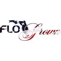 FloGrown American Flag Scripted Logo Decal