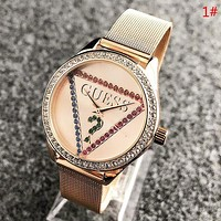 GUESS Fashion New Dial Colorful Diamond Women Men Wristwatch Watch