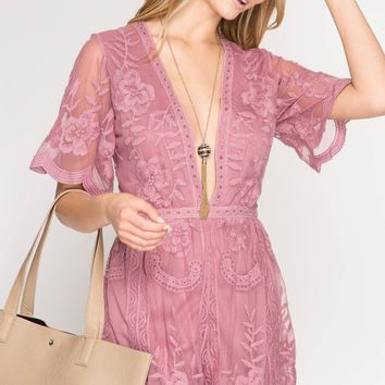 Rose Maxi Lace Romper