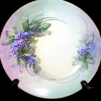 Vintage Thomas Sevres Bavarian Lilac Plate, Collectible Plate