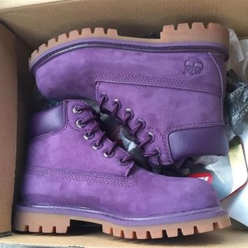 Timberland boots for men and women shoes waterproof Martin boots lovers Purple