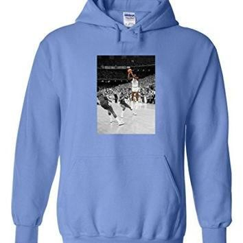 "Michael Jordan UNC North Carolina ""The Shot"" Hooded Sweatshirt ADULT XL"