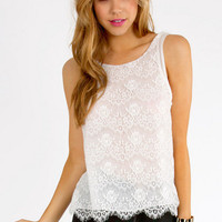Open Back Olga Lace Tank $26