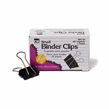 BINDER CLIPS 12CT SMALL 3/8IN