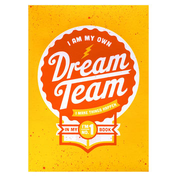 Dream Team Lined Notebook