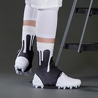 Drip Black White Spats / Cleat Covers