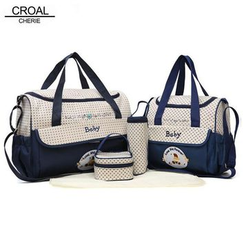 CROAL CHERIE 5pcs Baby Diaper Bag Set