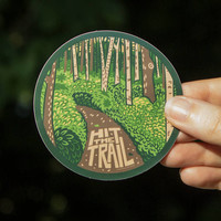 Hit The Trail Sticker, Outdoorsy Vinyl Sticker
