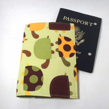 Turtle Passport Cover Green turtle passport by redmorningstudios