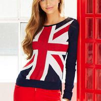 Union Jack Long-Sleeve Sweater