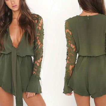 Linen Laced Romper
