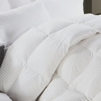 Striped & Solid-Oversized-Reversible-Down Alternative Comforter with Corner Tabs